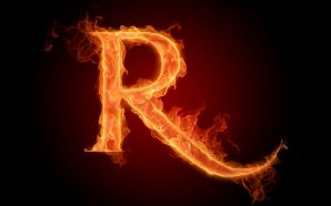 The fiery English alphabet picture S