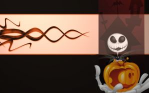 Free Skeleton and Pumpkin wallpaper