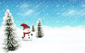 Free Christmas Snowman in Snow wallpaper