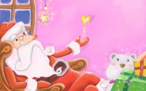 Free Cute Santa Claus Picture wallpaper