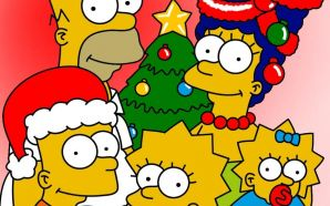 Free Simpsons Christmas Image wallpaper