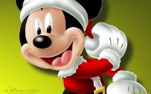 Free Mickey in Christmas wallpaper