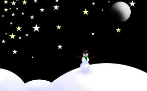 Free 3D Fantasy Snowman wallpaper