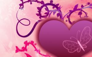 Free 3D Valentine's Day Love Heart wallpaper