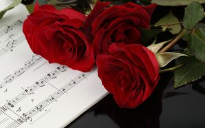 Free Flower and Music wallpaper
