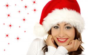 Christmas and Happy New Year - Santa Girl