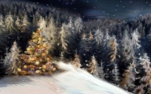 Merry xmas and Happy New Year - christmas forest