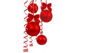 Merry xmas and Happy New Year - Red Christmas ball