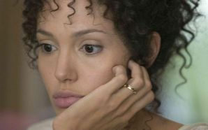 ANGELINA JOLIE stars as Mariane Pearl in Michael Winterbottom's A MIGHTY HEART