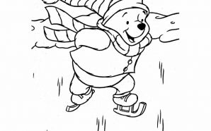 coloring page pooh christmas winnie