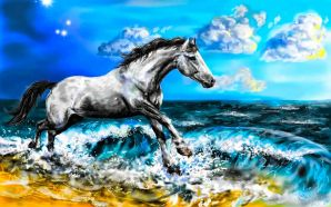Horse wallpaper - Race The Wave